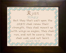 Name Blessing - Ryan 2 | Crafting | Cross-Stitch | Other