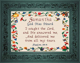 Name Blessings - Samantha | Crafting | Cross-Stitch | Other