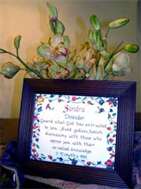 Name Blessings - Sandra - Chart | Crafting | Cross-Stitch | Other