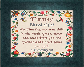 Name Blessings - Timothy | Crafting | Cross-Stitch | Religious