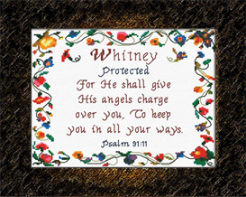 Name Blessings - Whitney - Chart | Crafting | Cross-Stitch | Religious