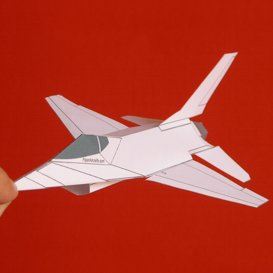 Paper F-16 White | Crafting | Paper Crafting | Paper Models