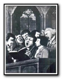 barber : sing we merrily unto god : full score