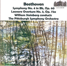 beethoven 4th symphony/leonore no. 3 - steinberg/pso