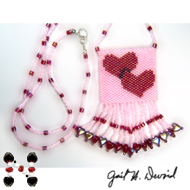 hearts amulet bag