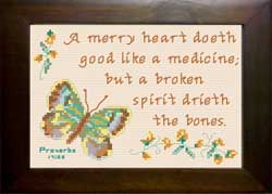 Merry Heart - Proverbs 17:22 | Crafting | Cross-Stitch | Other
