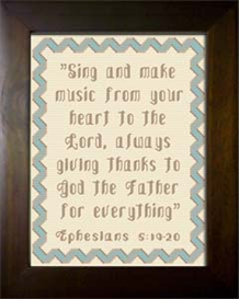 sing and make music - ephesians 5:19-20