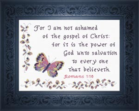 Not Ashamed - Romans 1:16 | Crafting | Cross-Stitch | Religious