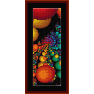 fractal 335 bookmark cross stitch pattern by cross stitch collectibles