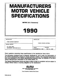 1990 Ford LTD Crown Victoria MVMA | eBooks | Automotive