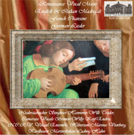 renaissance vocal music - english and italian madrigals, french chansons, and german lieder