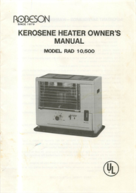robeson rad 10,500 kerosene heater owner's manual