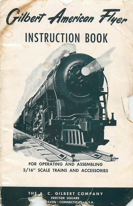 First Additional product image for - Gilbert American Flyer Instruction Book