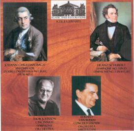 jc bach: double sinfonia in e-flat/schubert: symphony no. 3 & symphony no. 5 - cincinnati symphony/thor johnson - concertgebouw orchestra/eduard van beinem