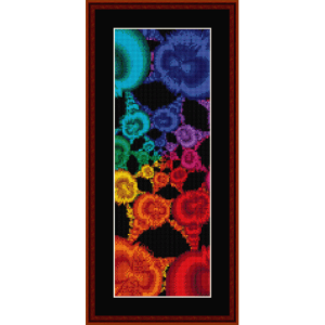 fractal 339 bookmark cross stitch pattern by cross stitch collectibles