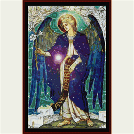 gabriel - religious cross stitch pattern by cross stitch collectibles