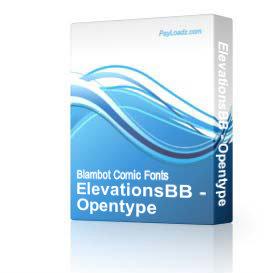 ElevationsBB - Opentype   Software   Design