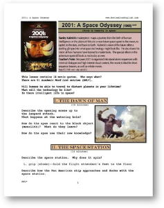 2001: a space odyssey,  whole-movie english (esl) lesson