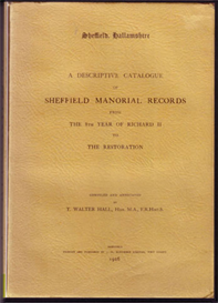 sheffield manorial records