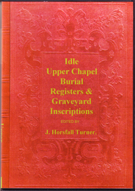 idle upper chapel burial registers & graveyard inscriptions, yorkshire.