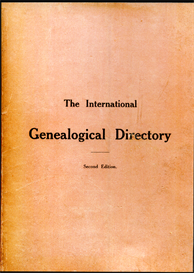 the international genealogical directory. second edition.