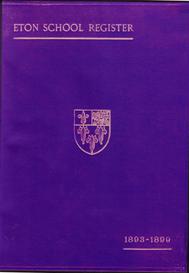 eton school register, 1893-1899