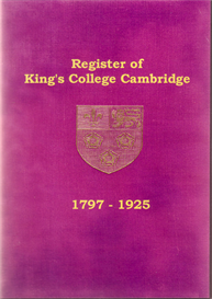 the register of admissions to king's college cambridge 1797-1925.