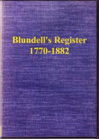 blundell's register, 1770-1882