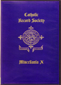 the catholic record society miscellanea x