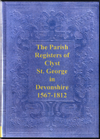 the parish registers of clyst st. george
