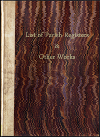 list of parish registers & other works