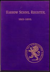 harrow school register 1801-1893