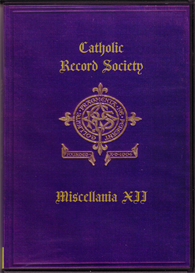 the catholic record society miscellanea xii