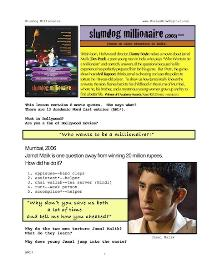 slumdog millionaire, whole-movie english (esl) lesson