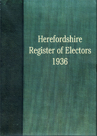 hereford parliamentary division of the county of hereford - register of electors 1936.