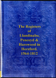 Parish Registers of Llandinabo, Pencoyd and Harewood in Hereford | eBooks | Reference