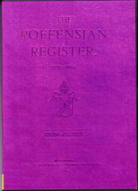 the roffensian register, 1835-1920