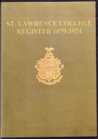register of st lawrence college, ramsgate 1879 - 1924.