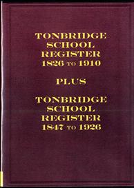 tonbridge school register 1826 to 1910
