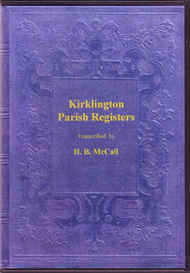 the parish registers of kirklington in the north riding of yorkshire