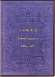 the parish registers of kirby hill, in the north riding of yorkshire.