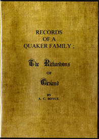 records of a quaker family the richardsons of cleveland