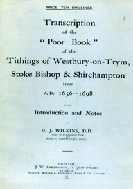 transcription of the poor book of the tithings of westbury-on-trym, stoke bishop and shirehampton from 1656-1698.