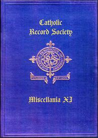 the catholic record society miscellanea xi