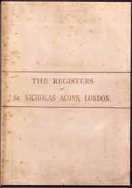 the parish registers of st nicholas acons, 1539-1812