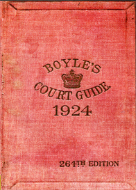 Boyle's Fashionable Court & Country Guide & Town Visiting Directory Corrected for May 1924 (264th Edition)   eBooks   Reference