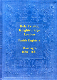the marriage registers of the chapel of the holy trinity, knightsbridge, london.