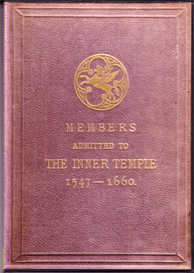 members admitted to the inner temple 1547 - 1660