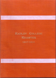 radley college register 1847 - 1904.