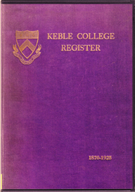 keble college register, oxford.